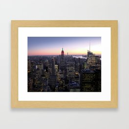 NYC - Skyline Framed Art Print
