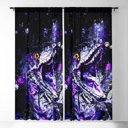 velociraptor dinosaur close up wsdb Blackout Curtain