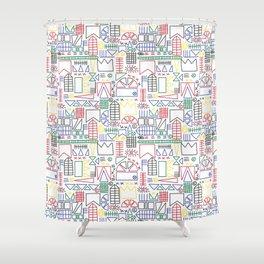 Basquiat & Volpi inspired pattern  Shower Curtain