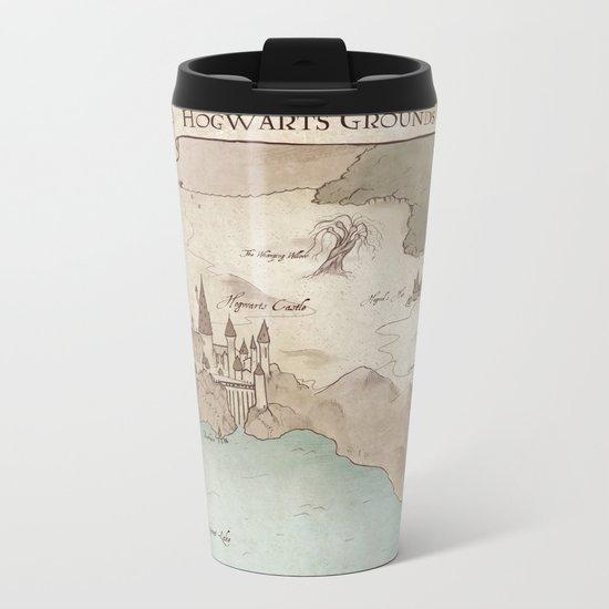 Map of Hogwarts Metal Travel Mug