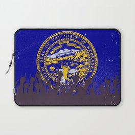 Nebraska State Flag with Audience Laptop Sleeve