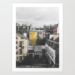 Paris I (Tags) Art Print