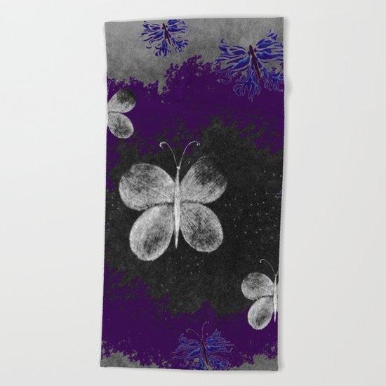 Fluttering Butterflies Beach Towel