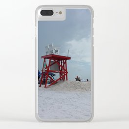 Beach Lifeguard Station Clear iPhone Case