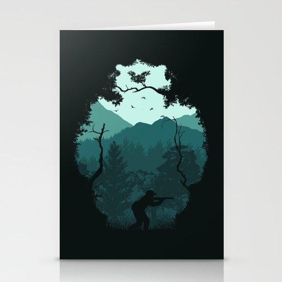 Hunting Season - Blue Stationery Cards