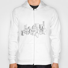 cubes and balls in the city Hoody