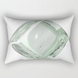 Block of glass on white background - 3D rendering Rectangular Pillow