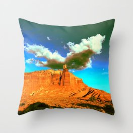 Chimney Rock Before the Storm Throw Pillow