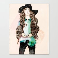 boho Canvas Prints featuring Boho Chic  by Felicia Atanasiu