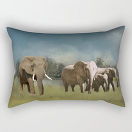 Leaving The Watering Hole Rectangular Pillow
