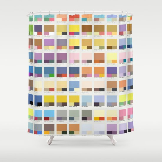 Poke-Pantone 1 (Kanto Region) Shower Curtain