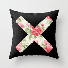 X Floral | X Throw Pillow