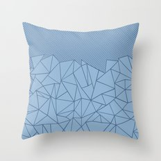 Ab Lines 45 Blues Throw Pillow