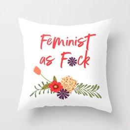 Feminist as F*ck (Censored Version) Throw Pillow