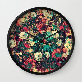 RPE FLORAL V Wall Clock