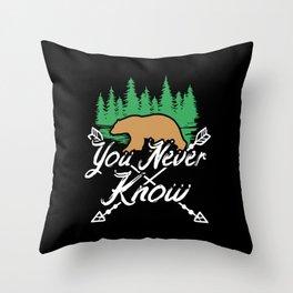 Camping Hiking Outdoor Throw Pillow