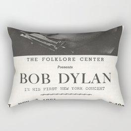 Vintage 1961 Bob Dylan Carnegie Hall Folk Festival Concert Gig Poster Rectangular Pillow