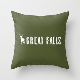 Deer: Great Falls, Montana Throw Pillow