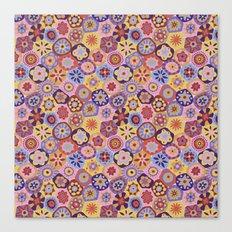 Millefiori-Sunset colorway Canvas Print