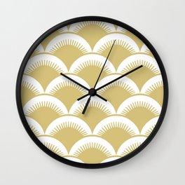 Japanese Fish scales Gold Wall Clock