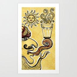 Cutting Chai Art Print