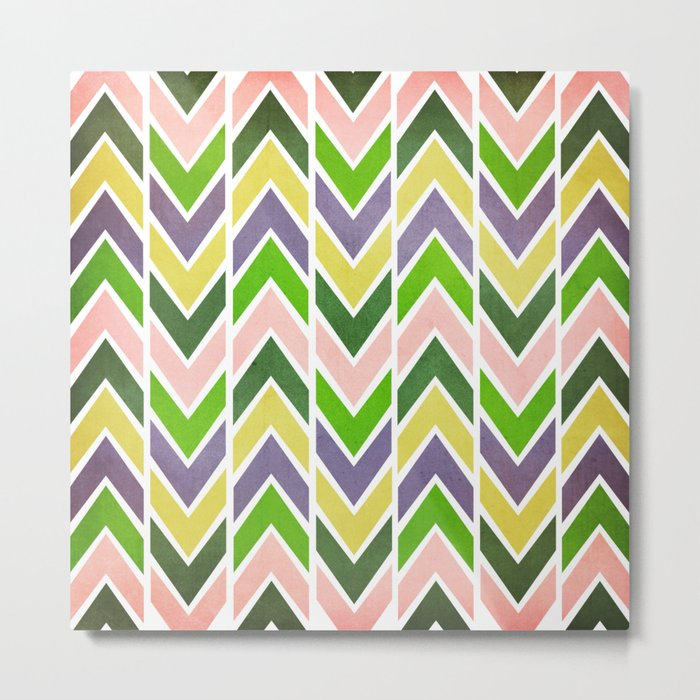 Multi Chevron Metal Print