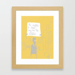the dictator is dead! long live the dictator Framed Art Print