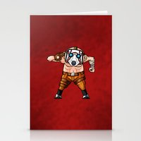 borderlands Stationery Cards featuring BORDERLANDS PSYCHO by DROIDMONKEY