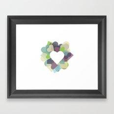 HEART HEART Framed Art Print