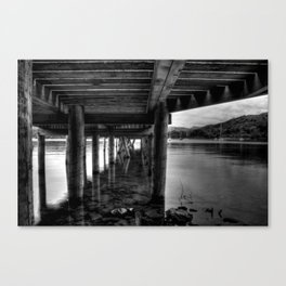 Windermere from under the Jetty Canvas Print