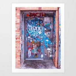 Bushwick, Brooklyn Street Art - Bowie Door Art Print