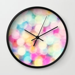 Drops of Rainbow Wall Clock