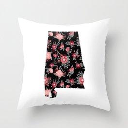 Alabama university of alabama crimson tide floral college football gifts Throw Pillow