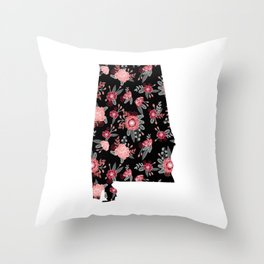 Alabama university of alabama crimson tide floral college football gifts Throw Pillow