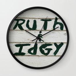 Ruth and Idgy Wall Clock