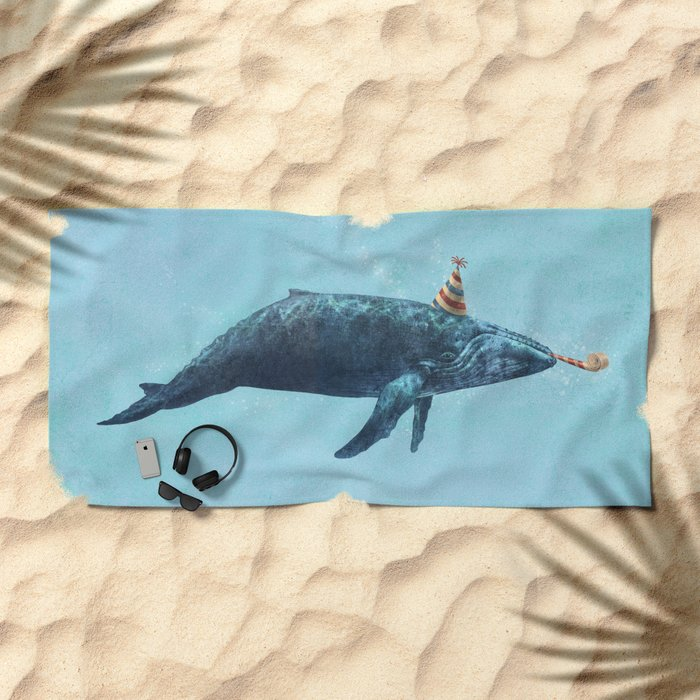 Party Whale  Beach Towel