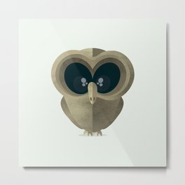 Owl 2.0. Wood Metal Print