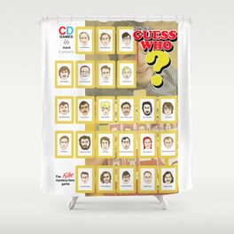 Serial Killer GuessWho Cards Shower Curtain