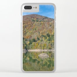 Autumn lake view in France Clear iPhone Case