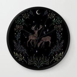 Deers in the Moonlight Wall Clock
