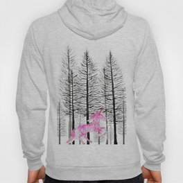 Pink unicorn in the wood Hoody