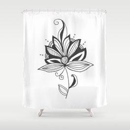 Solitary Flower Shower Curtain