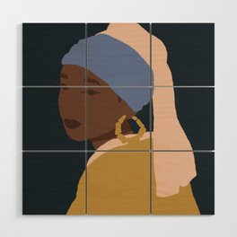 The Girl With A Bamboo Earring Wood Wall Art