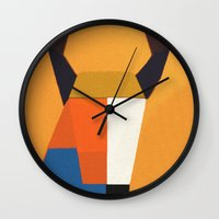 taurus Wall Clocks featuring Taurus by Fernando Vieira