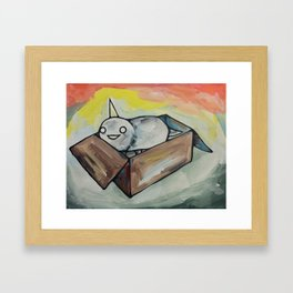 Burrito Unicorn in a box Framed Art Print
