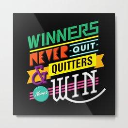 WIN Metal Print