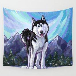 Animal Parade Husky Wall Tapestry