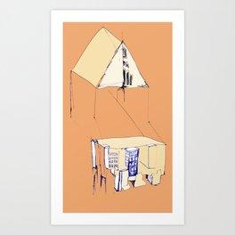 'in a town' Art Print