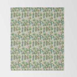 Salty Cacti Throw Blanket
