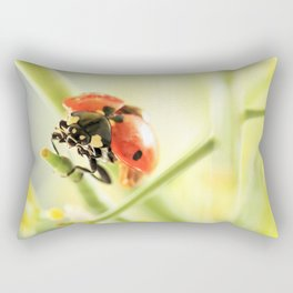 Spring Garden Ladybug On Broccoli Rectangular Pillow